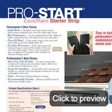 Asphalt shingles details pro-starter
