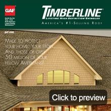 Asphalt shingles details timberline brochure