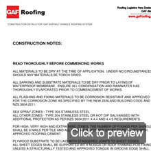 GAF Apshalt shingles details construction notes