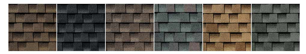 Asphalt shingle colour selection