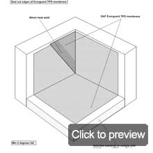 TPO everguard folded corner